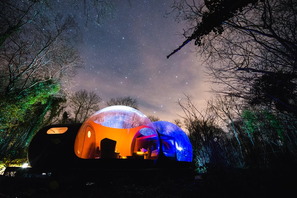 Bubble hotels que tienes que conocer - Finnlough Bubble Domes PORTADA