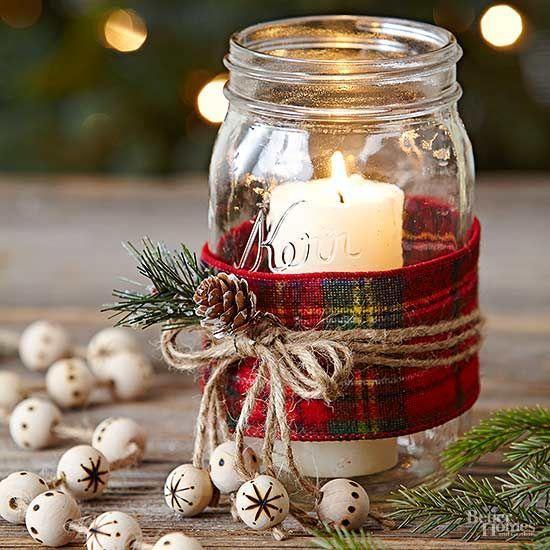 Centros de mesa navideños fáciles y rápidos de hacer - 4-mason-jars