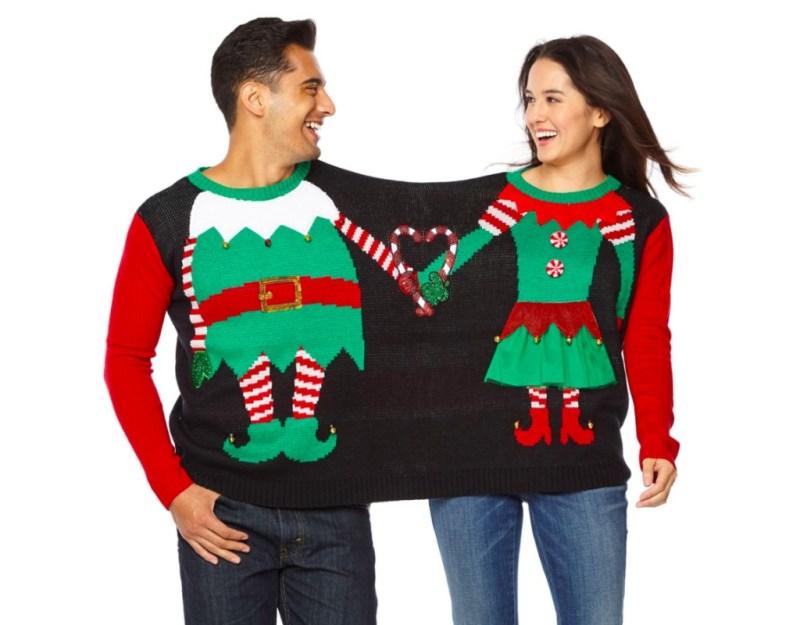 Inspiración para tu próxima Ugly Christmas Sweater Party - couples-christmas-sweater