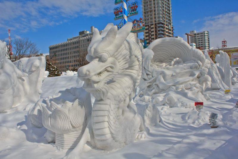 Festivales de nieve en el mundo - sapporo-snow-festival