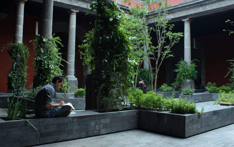 Biblioteca de México: conjunto de infinitos - biblioteca-de-mexico-patio-de-los-aromas