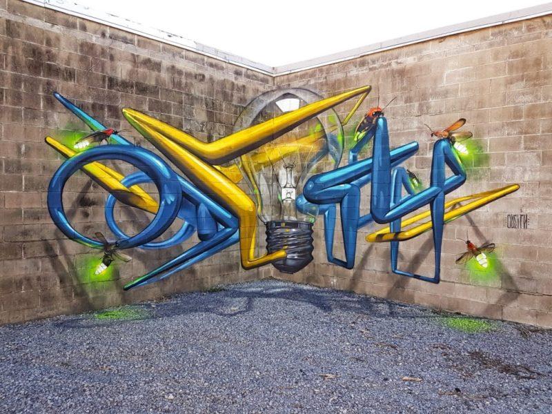 Los grafitis en 3D más impresionantes de Odeith - grafitis-impresionantes-3d-2