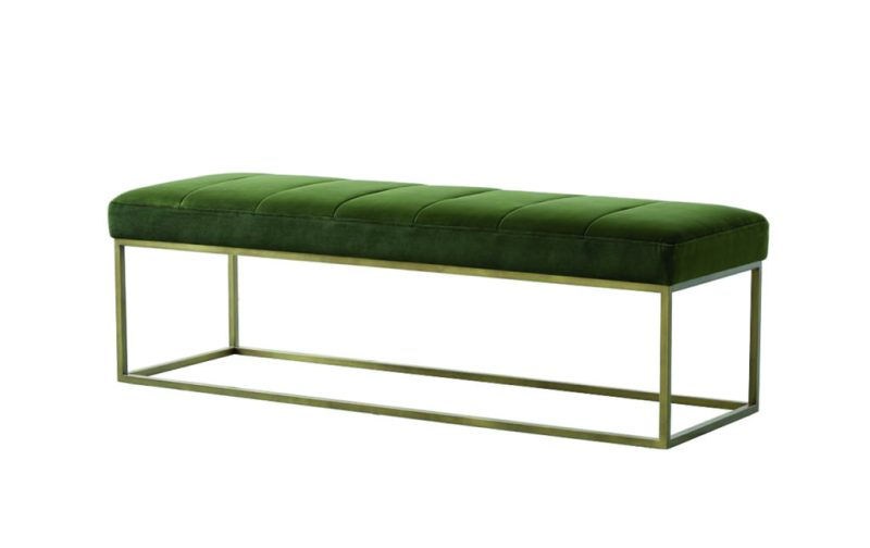 Home wishlist - crate-and-barrel-green-velvet-bench
