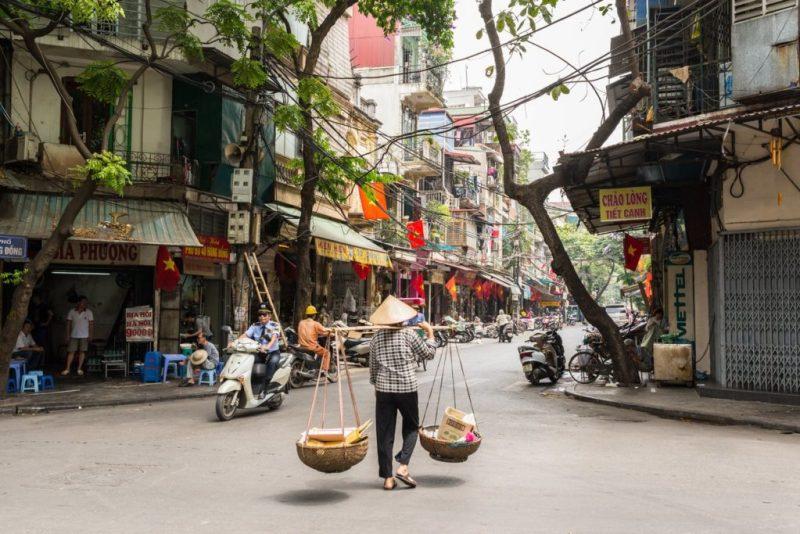 Guía para visitar Hanói - hanoi-calle