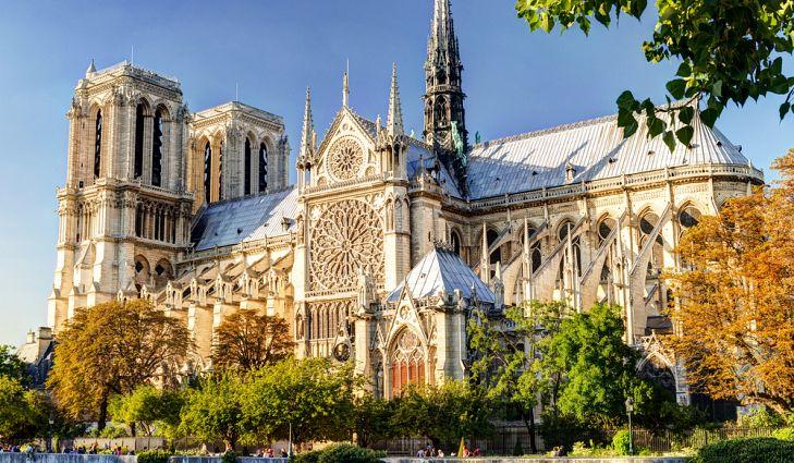 Datos históricos de la Catedral de Notre Dame - imagen-que-contiene-arbol-exterior-cielo-edific