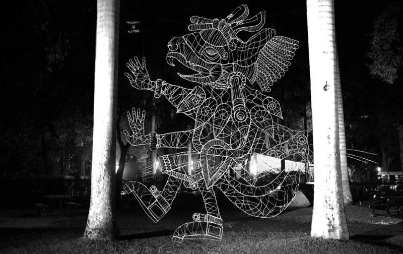 Máscaras de Alambre, un accidente creativo - huehuecoytl-bahidora-alambre