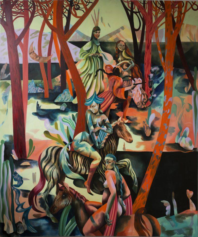 Jessie Makinson presenta su primera exposición en la Ciudad de México - 7-misled-blush-200-x-170cm