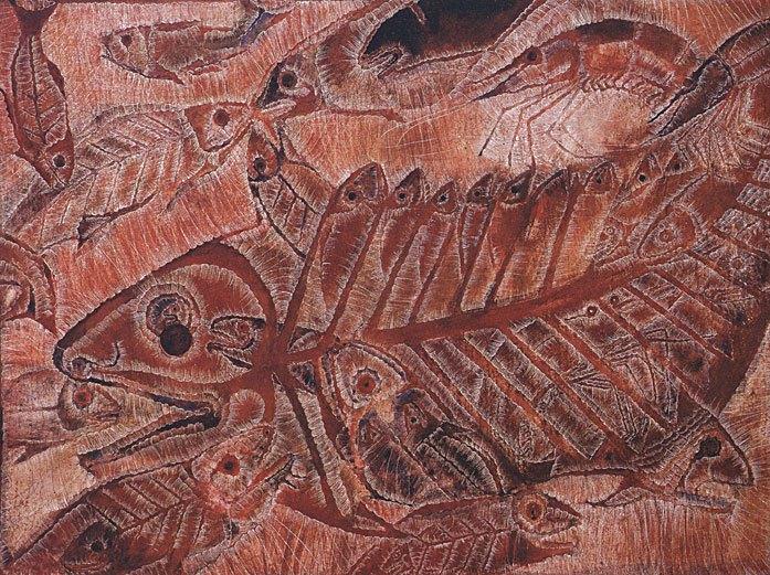 La zoología fantástica de Francisco Toledo - netted-fish-and-shrimp-francisco-toledo