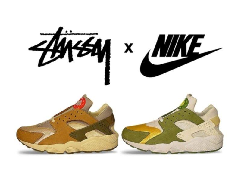 Las sneaker collabs más icónicas de la historia - stucc88ssy-x-nike-huaraceh-2000-los-sneakers-collabs-mas-iconicos-de-la-historia