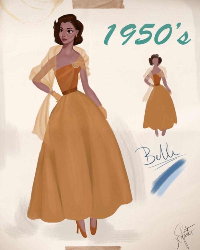 Amit Naftali, un joven ilustrador, dibuja a las princesas de Disney en distintas épocas - amit-naftali-un-joven-ilustrador-dibuja-a-las-princesas-de-disney-en-distintas-epocas-princess-google-online-verano-viajes-google-zoom-instagram-tiktok-foodie-recetas-como-hacer-a-donde-ir-summe-6
