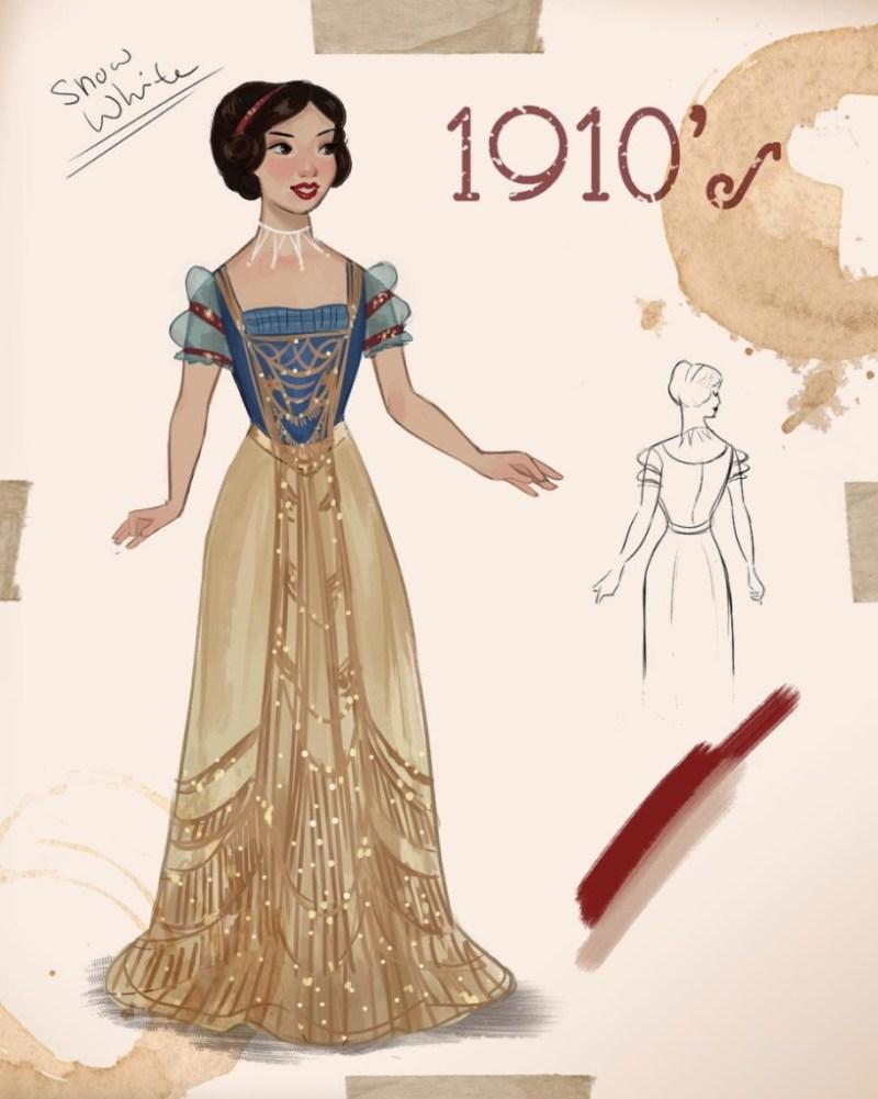 Amit Naftali, un joven ilustrador, dibuja a las princesas de Disney en distintas épocas - amit-naftali-un-joven-ilustrador-dibuja-a-las-princesas-de-disney-en-distintas-epocas-princess-google-online-verano-viajes-google-zoom-instagram-tiktok-foodie-recetas-como-hacer-a-donde-ir-summe-9