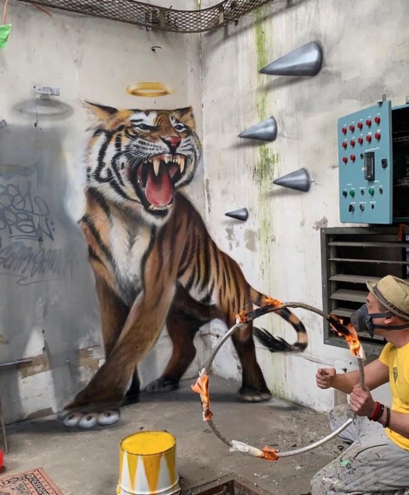 @scaf_oner y sus impactantes murales 3D - george-rousse-y-sus-impactantes-murales-3d-tercera-dimension-artista-google-viajes-verano-coronavirus-google-online-nueva-normalidad-restaurantes-5
