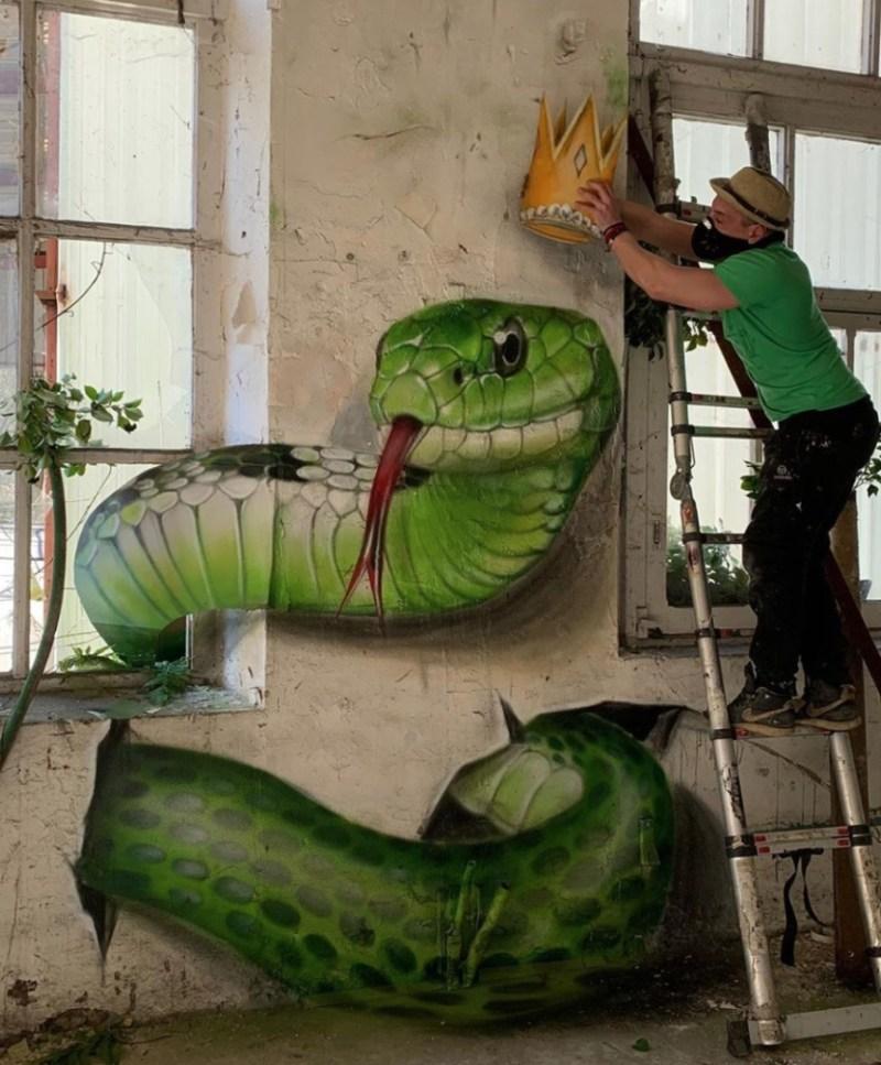 @scaf_oner y sus impactantes murales 3D - george-rousse-y-sus-impactantes-murales-3d-tercera-dimension-artista-google-viajes-verano-coronavirus-google-online-nueva-normalidad-restaurantes-6