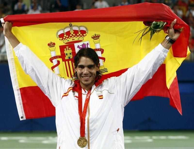 Todo lo que no sabías del tenista Rafael Nadal - nadal-gana-oro-juegos-olimpicos-de-pekin-en-2008-todo-lo-que-no-sabias-de-rafael-nadal
