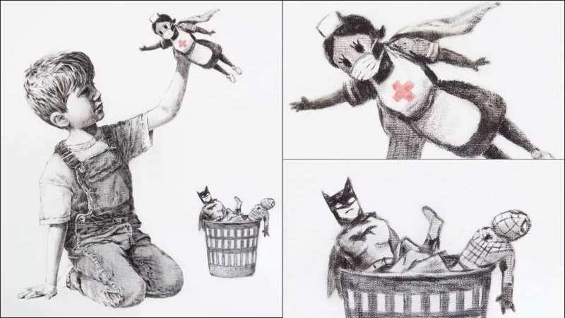 Banksy nos presenta a los verdaderos héroes y heroínas del siglo XXI en Game Changer - banksy-game-changer-europa-league-juventus-napoli-psg-bayern-vacuna-covid-19-masters-2021-2