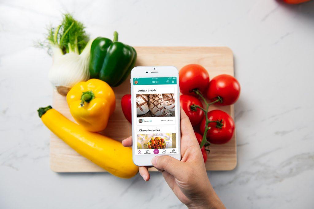 Olio una red global de intercambio de comida