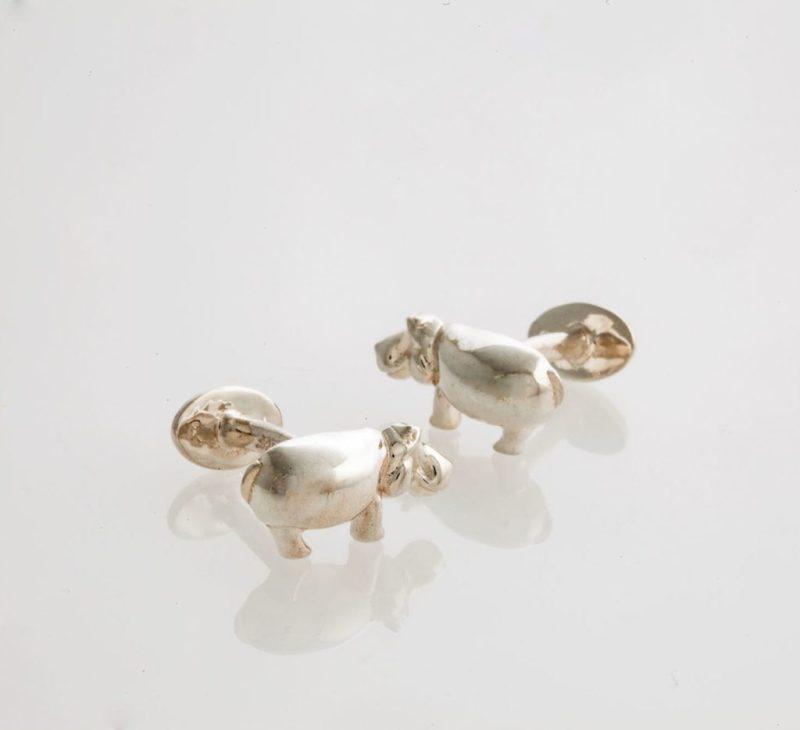 Raquel Morton Joyería, diseños basados en nuestro querido México y sus tradiciones - raquel-morton-joyeria-disencc83os-basados-en-nuestro-querido-mexico-y-sus-tradiciones-mancuernillas-hipopotamo