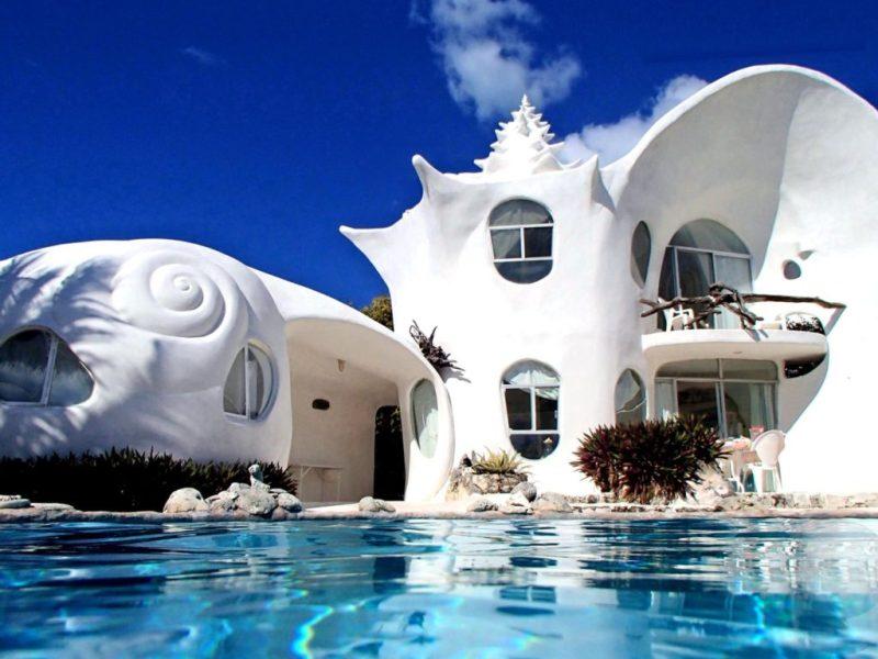 Los 10 Airbnb rentals más inusuales y exclusivos de todo el mundo - the-wold-famous-seashell-house-en-isla-mujeres-mexico-los-10-rentals-de-airbnb-mas-inusuales-y-exclusivos-de-todo-el-mundo