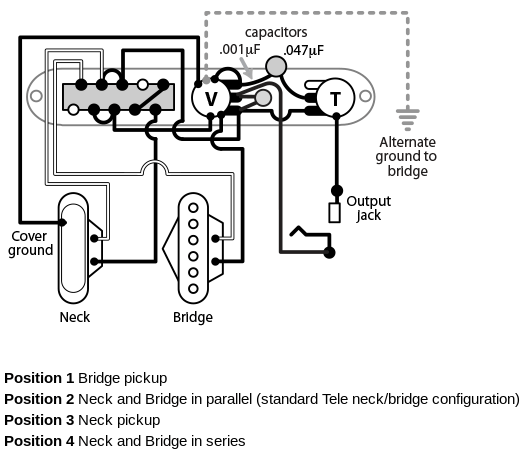 Noiseless Telecaster Pickup Wiring Diagram. Fender