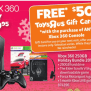Toys R Us Free 50 Gift Card With Xbox 360 Purchase Hot