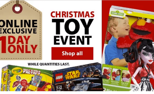 Walmart Canada Online Exclusive 1 Day Christmas Toy Event