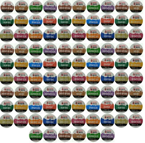 96 Pack Beantown Roasters 12 Assorted Roasted Coffees Variety Pack Sampler Coffee K-Cups for Single-Serve Cups, Keurig K-Cups and Compatible K-Cup Brewers 96 Count