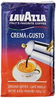 Lavazza Crema e Gusto – Ground Coffee, 8.8-Ounce Bricks (Pack of 4)