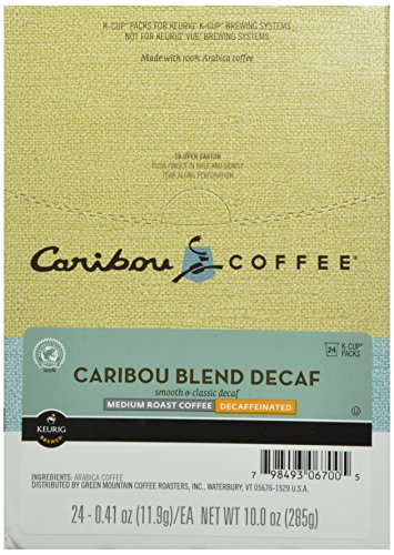 Caribou Coffee, Caribou Blend Decaf, K-Cup Portion Pack for Keurig K-Cup Brewers, 24-Count
