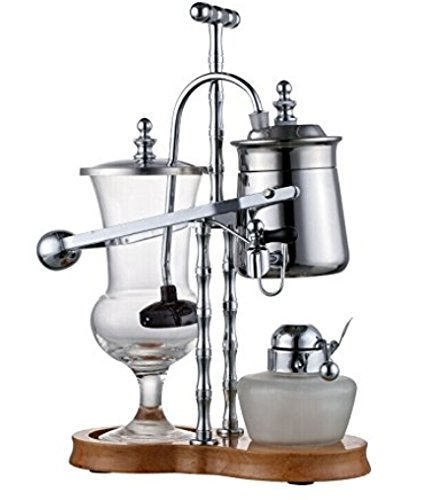 Diguo Belgian Belgium Luxury Royal Family Balance Syphon Coffee Maker Silver Color