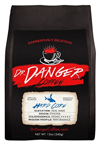 Dr Danger Coffee HARD CORE Scientifically selected and roasted – whole bean – special reserve – 12oz