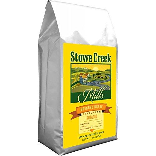Stowe Creek Mills Coffee – Reserve DECAF Ethiopian SIDAMO,Whole Bean 12oz