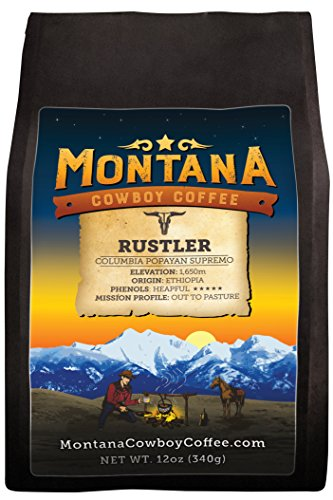 Montana Cowboy Coffee – RUSTLER, Whole Bean 12oz