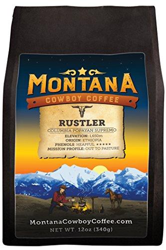 Montana Cowboy Coffee – RUSTLER,Whole Bean 12oz