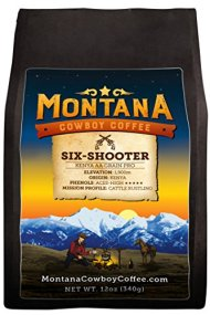 Montana Cowboy Coffee – SIX-SHOOTER, Whole Bean 12oz