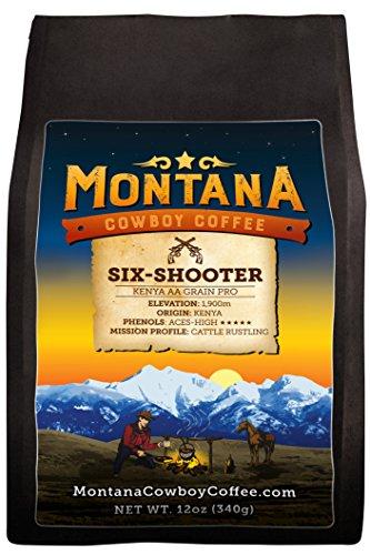Montana Cowboy Coffee – SIX-SHOOTER,Whole Bean 12oz