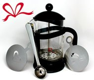 R'stoyours French Press, 6 Cups with Bonus Measuring Scoop, 2 Decorative Coffee Stencils, and Coffee Bag Clip