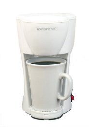 Toastess TFC-1 Personal-Size 1-Cup Coffeemaker, White