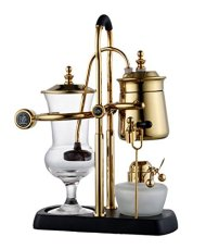 Diguo Belgian Belgium Luxury Royal Family Balance Syphon Coffee Maker Gold Color Top Grade