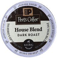 Peet's Coffee & Tea House Blend K-Cup Portion Pack for Keurig K-Cup Brewers, 22 Count