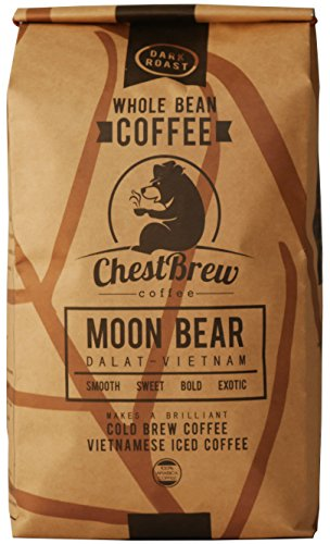 ChestBrew Moon Bear Whole Bean Coffee From Vietnam, the Best Bean for Hot or Iced Coffee – 20 Ounce Bag
