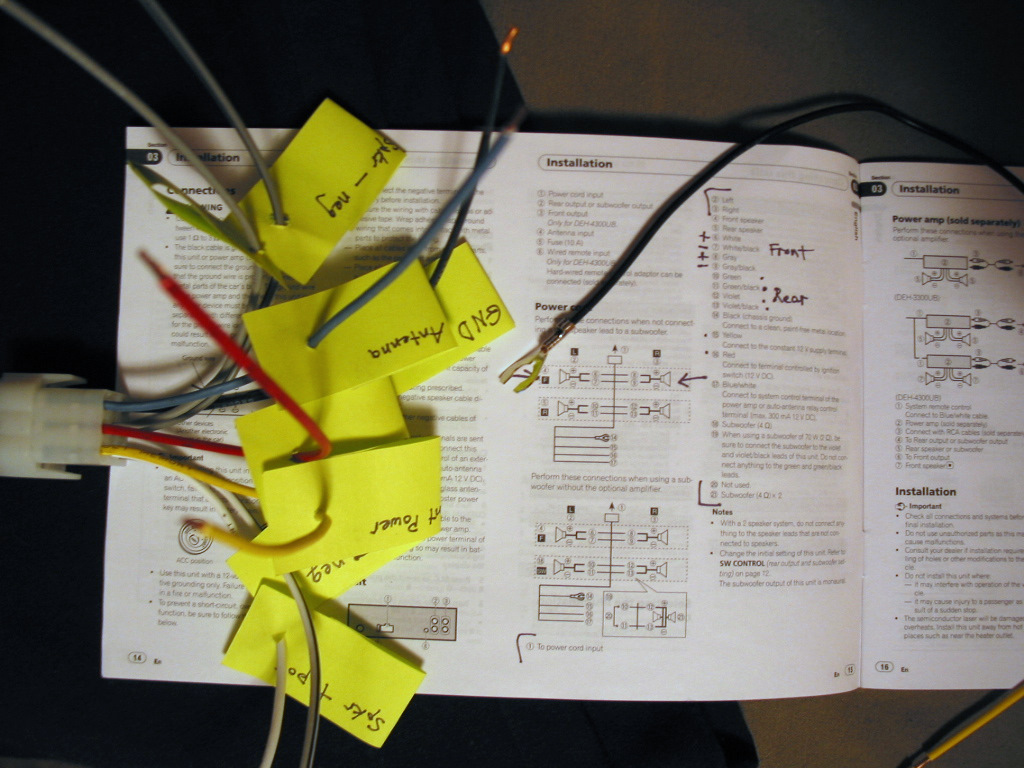 Pioneer Stereo Wiring Diagram On Pioneer Deh P5800mp Wiring Diagram