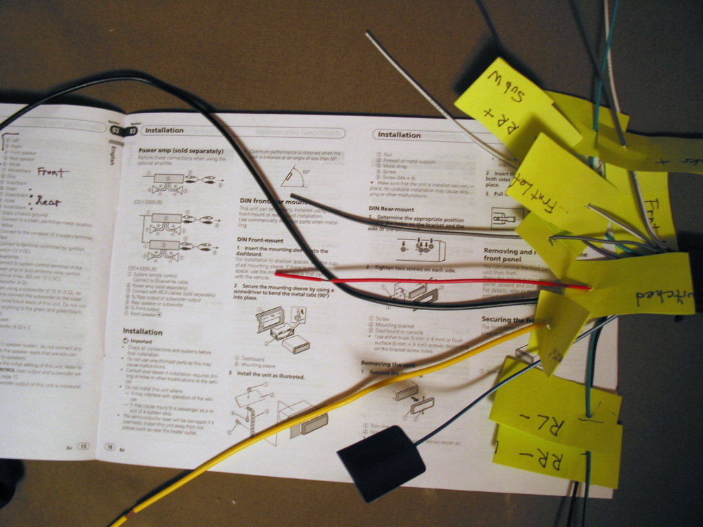 pioneer deh 245 wiring diagram 2 basic car aircon volvo 240 stereo system install upgrade speakers photos
