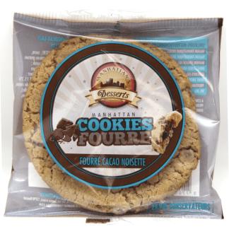 Découvrez en exclusivité les Cookies fourrés Choco-Noisette Manhattan Hot Dog ! Une recette originale, pour un cookie gourmand et moelleux