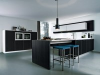 contemporary simple kitchen style with a minimum amount of ...