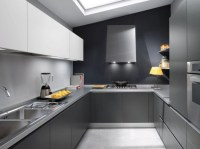 white grey and black modern Kitchen design picture by ...