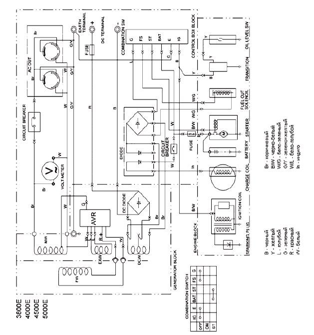 Авр для бензогенератора схема