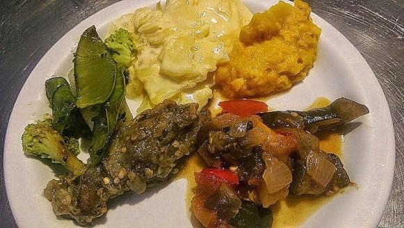 Assiette de cinq légumes