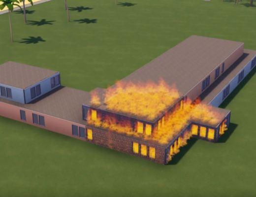 Hotel Magnate Fire