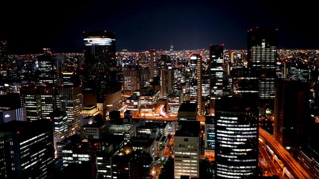 ザ・リッツ・カールトン大阪_スカイビュー・南側の夜景