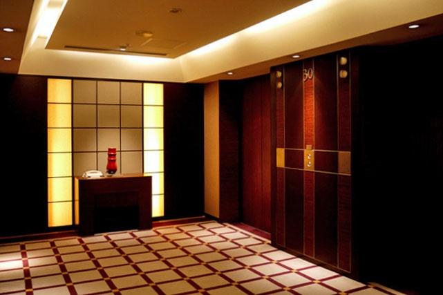 ANAインターコンチネンタル東京_客室階エレベーターホール